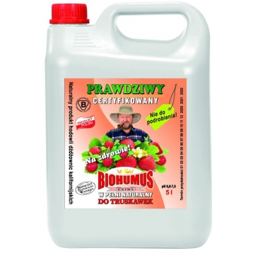 Biohumus Extra do truskawek i poziomek 5l