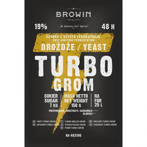 Drożdże gorzelnicze Turbo Grom 48h 150g