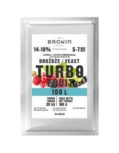Drożdże gorzelnicze Turbo Fruit 5-7 dni 100l 160g